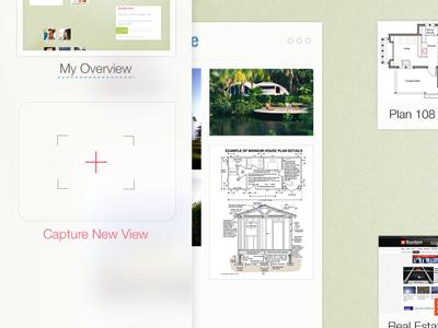 Capture New View ipad app view capture ui design interface button new flat blur transparency