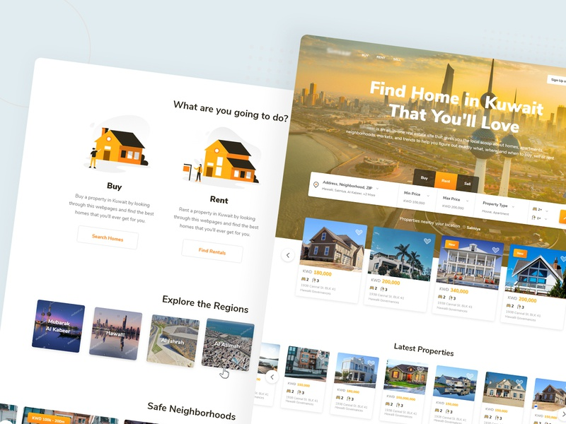 Kuwait Real Estate Listings by Fachry Nurdiansyah on Dribbble