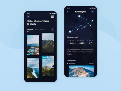 Climbing App Design