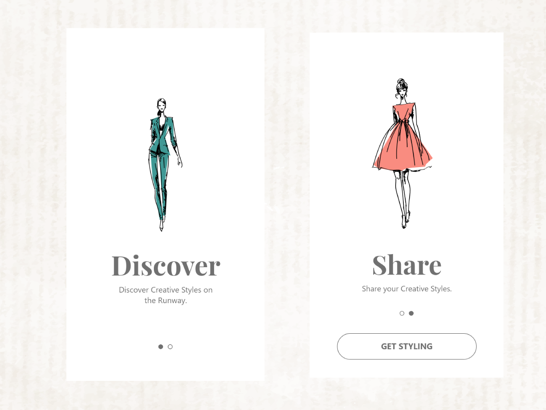 Onboarding Screen app concept fashion ui 100day