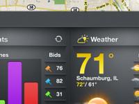 iPad App UI - Content Drawer