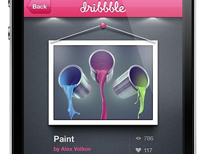 Dribbble iPhone App iphone ui app