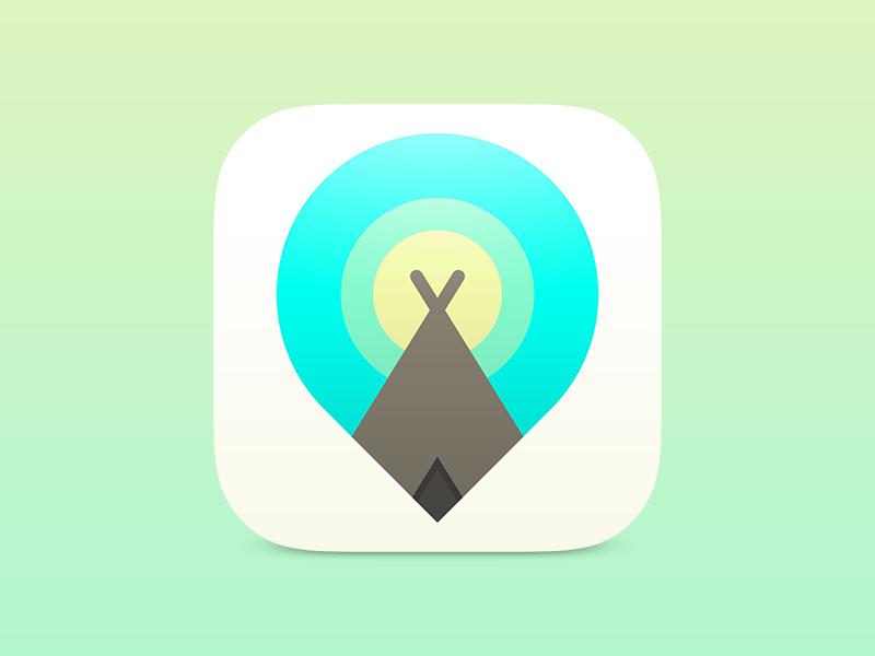 Teepee App Icon teepee icon ios