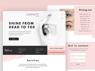Enigmatic Beauty Site Design