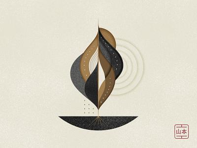 Solitude or small meditations #21 minimalism solitude smallmeditations circular textures nature symbolism vector geometry illustration