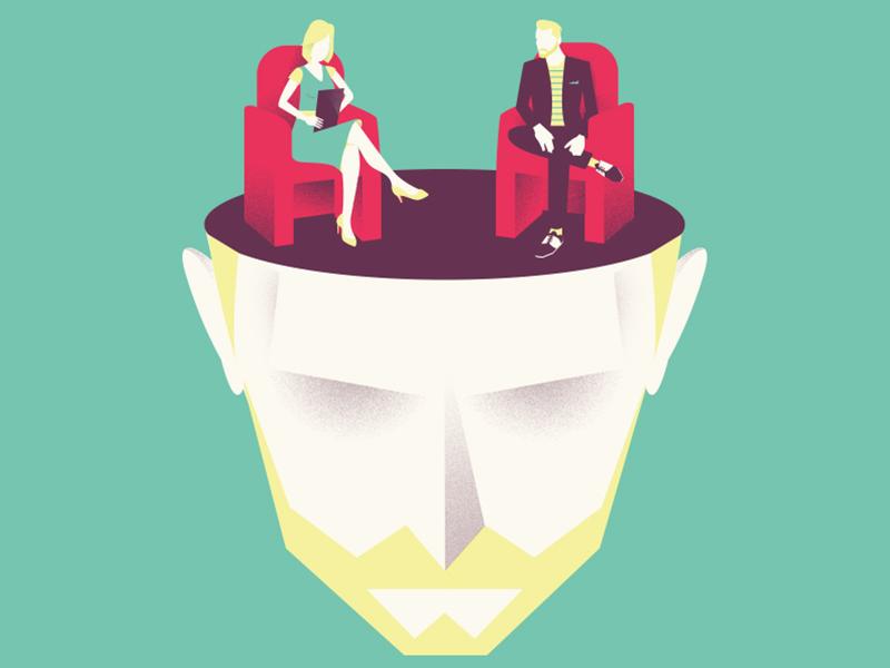 psychologist's illustration in your head psychoanalysis marie lorraine crumbach psychologist