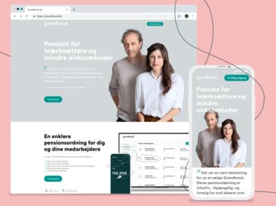 Grandhood new website startup copenhagen denmark pension ui webdesign