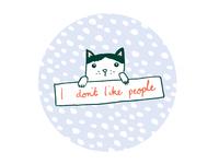 I don't like people
