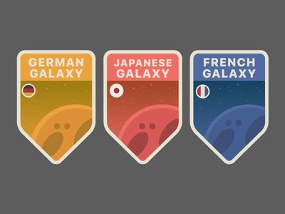 Galaxy Badges