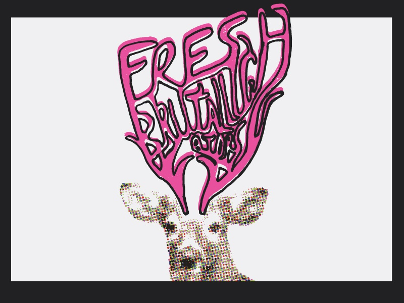 Fresh antlers