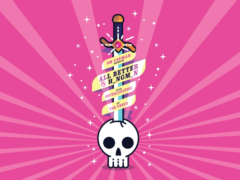 Skull and Sword Illustration sword skull illustration gig poster