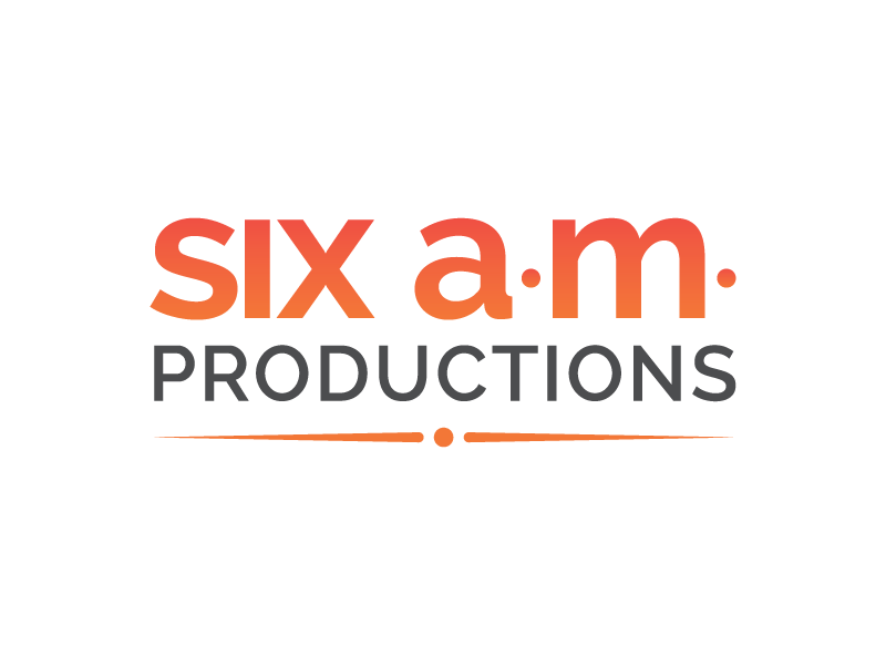Six a m  Productions: Logo + Branding by Jess Warren