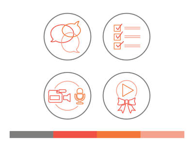 Icons // Process of Editorial Video Production icons video process illustration production editorial