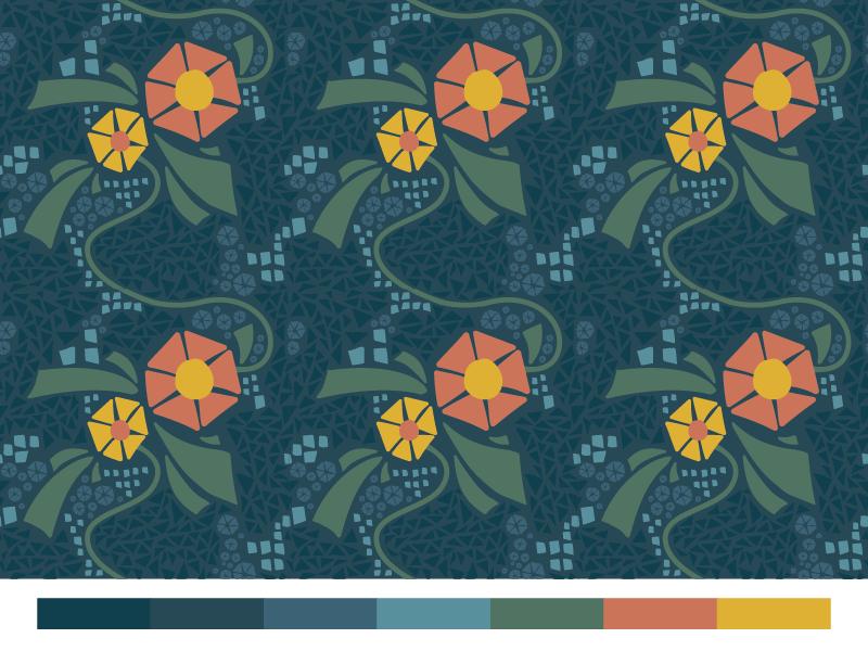 Funky Flower Pattern triangles pattern flowers