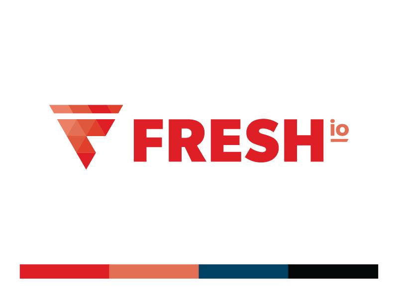 Fresh.io Logo web design geometric triangle fresh logo