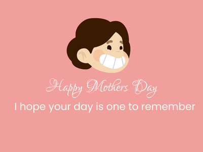 Mothers Day Card art mom mothers day vector illustration figma