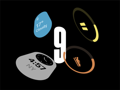 It's 9 watch os 9 9 illustration vector design figma