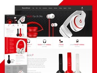 Beats Headphones Landing Page