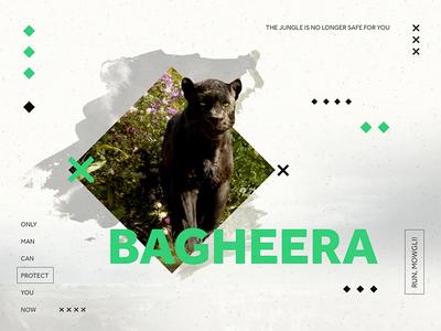 Bagheera  green diamonds panther bagheera shapes quote movie jungle book disney