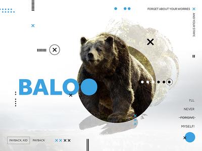 Baloo shapes quotes bear movie jungle book blue disney circles baloo