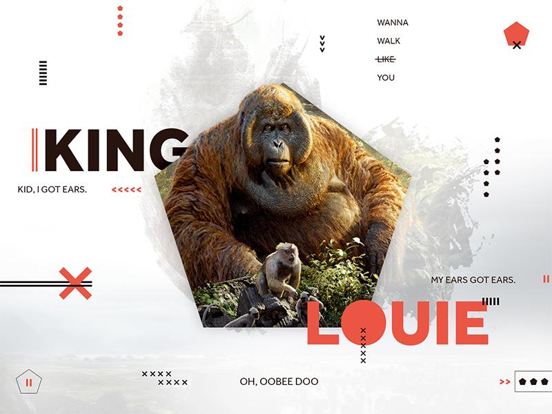 King Louie  shapes quotes movie jungle book disney pentagon orange red orangutan king louie