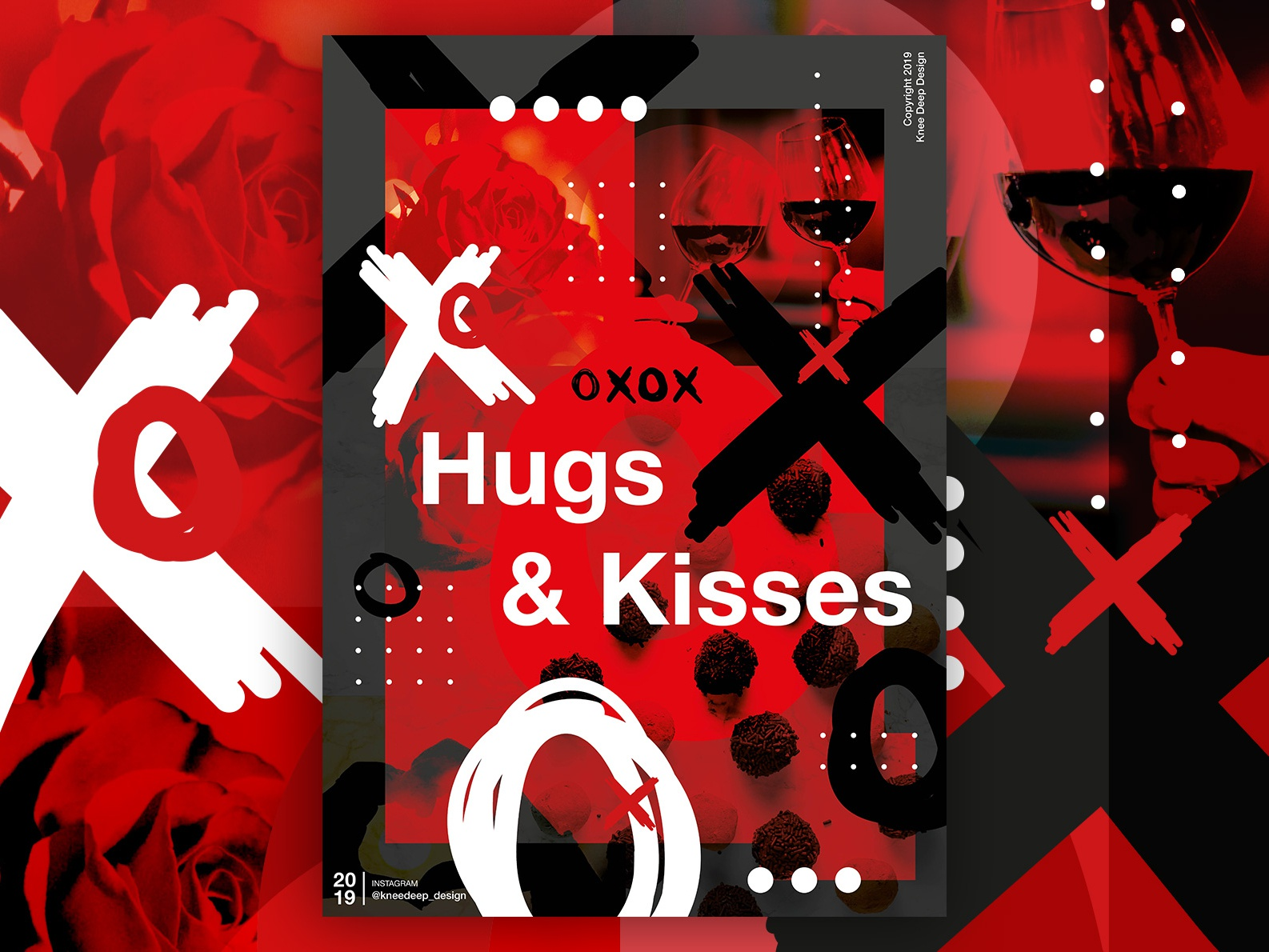 Naughts & Crosses vector branding design indesign poster illustration naughts and crosses red black abstract