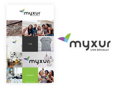 Myxur Logo Design