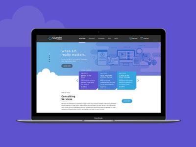 SkyHelm Homepage Concept