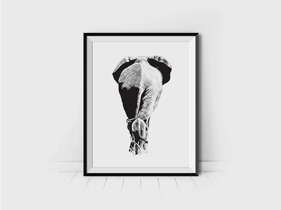 The End - Elephant Illustration