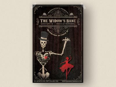 The Widow's Bane Concert Poster
