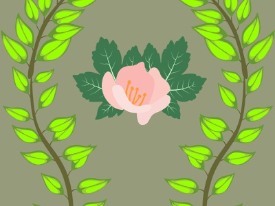 flower leaves seamless wave botany fashion seamless leaves flower graphic design abstract decoration background art vector illustration design