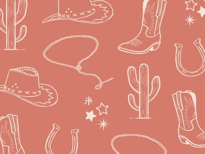 Giddy up! western australia lasso cactus horseshoe cowboy hat cowboy boots howdy saloon cowboy desert western