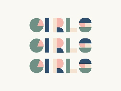 Happy International Women's Day! girls women pastels shape geometric lettering typography international womens day