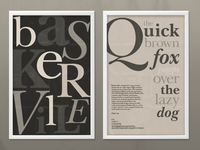 Baskerville Typeographic Poster