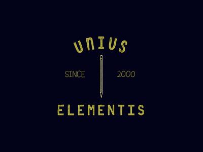 Unis Elementis - Digital Hand-Lettered Badge logo design drawing illustration latin digital hand lettering handlettering shield badge hand lettering