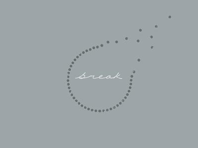 Break - Digital Hand Lettering logo symbol graphic script cursive design digital lettering lettered custom type mark