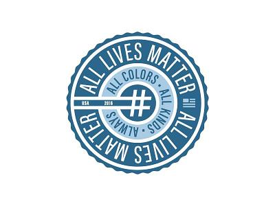 #AllLivesMatter mantra belief symbol logo movement circle badge alllivesmatter