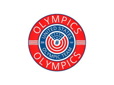 #Olympics Hashbadge font social media flag patriotic usa typography logo olympics hashtag badge