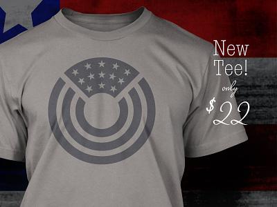 Circle O'Glory T-Shirt gray design circle icon cotton bureau logo american flag usa tshirt
