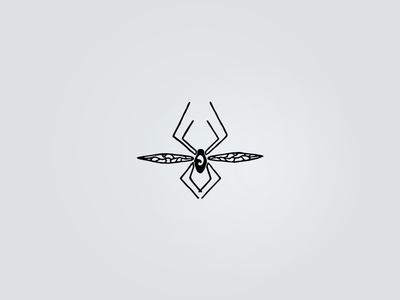Spiderflies - 1st wings eight line sketch doodle graphic design logo bug fly spider icon symbol