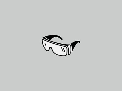 Fun Safety Goggles Icon design mark safety goggles glasses black symbol logo icon
