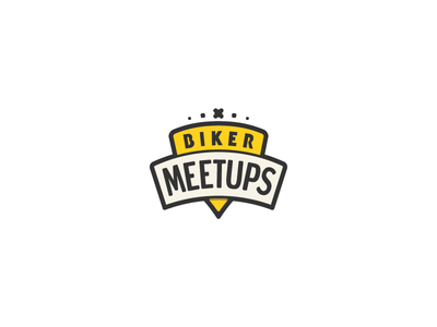 Biker Meetups Logo Design startups startup badge icon symbol band branding design logos logo