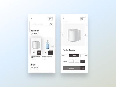 012 E-commerce item shop product e-commerce ux ui mobile design screen challenge dailyui