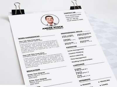 Simple Clean Resume Template animation best cv template typhography fhuadtonmoy resume cv cv art animated cv template a4 size fiverr dribbble best shot dribbble cv clean clean branding behance 8.5x11