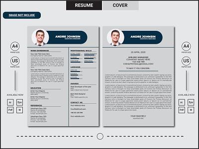 Clean Resume illustration a4 size fiverr 8.5x11 dribbble best shot behance branding cv skills clean creative psd clean resume design clean resume