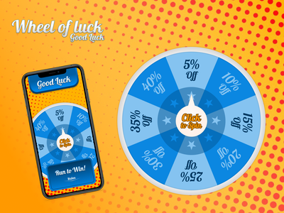 Wheel of Luck - Good Luck interaction game design game art game web app figma vector ux ui illustration design