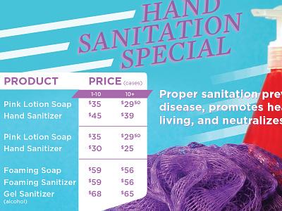 Hand Sanitation Special hand sanitizer lufa soap
