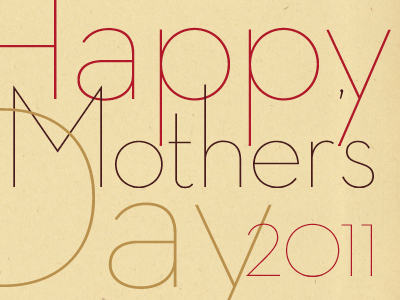 Mother's Day typography thin mothers day card