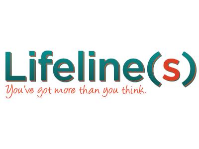 Lifeline(s) lifeline wordmark tagline gotham script sanserif parenthesis green orange church sermon youth ministry