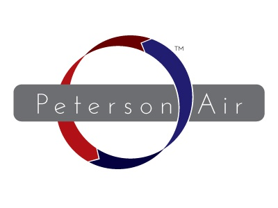 Peterson Air air ventilation hvac logo concept blue red arrow circulation